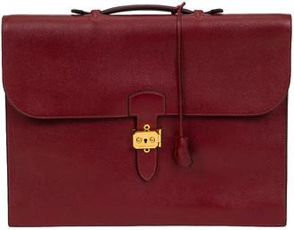 One Kings Lane Vintage HermeIs Burgundy Epsom Briefcase - 1996 - Vintage Lux