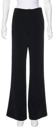 Atelier Twilley Mid-Rise Satin-Trimmed Pants