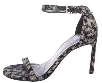 Stuart Weitzman Brocade Ankle Strap Sandals