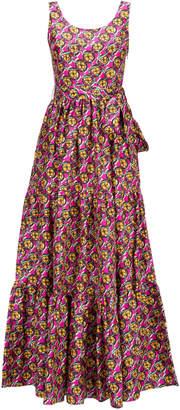 La DoubleJ Pellicano Tiered Silk-Crepe Maxi Dress Size: XS
