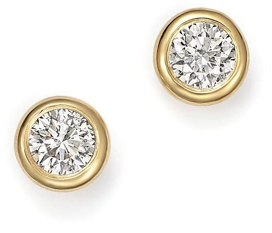 KC Designs 14K Yellow Gold Diamond Bezel Stud Earrings