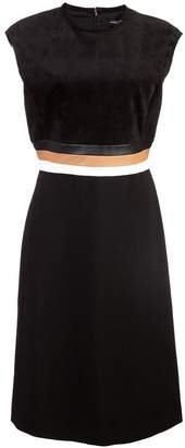 Derek Lam Sleeveless A-Line Dress with Tricolor Belt