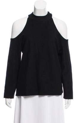 Reformation Exposed Shoulder Knit Top