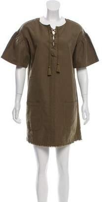 Ulla Johnson Short Sleeve Mini Dress