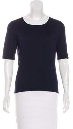 Neiman Marcus Silk-Blend Knit Top