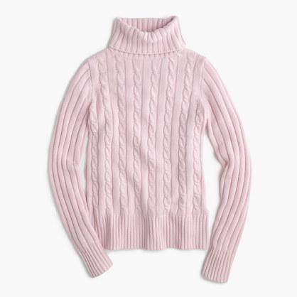 J.CrewCambridge cable chunky turtleneck sweater