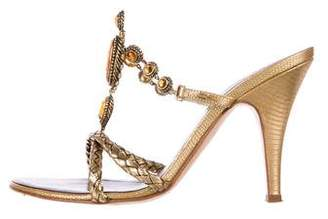 Giuseppe Zanotti Jewel Embellished Slide Sandals