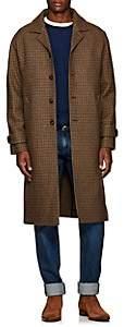 Officine Generale Men's Serge Houndstooth Wool Topcoat - Camel