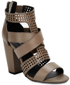 Kelsi Dagger Ballard Perforated Leather Sandals $140 thestylecure.com