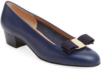 Salvatore Ferragamo Bow Leather Pump