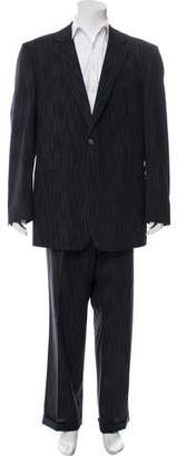 Versace Wool Pinstripe Two-Piece Suit