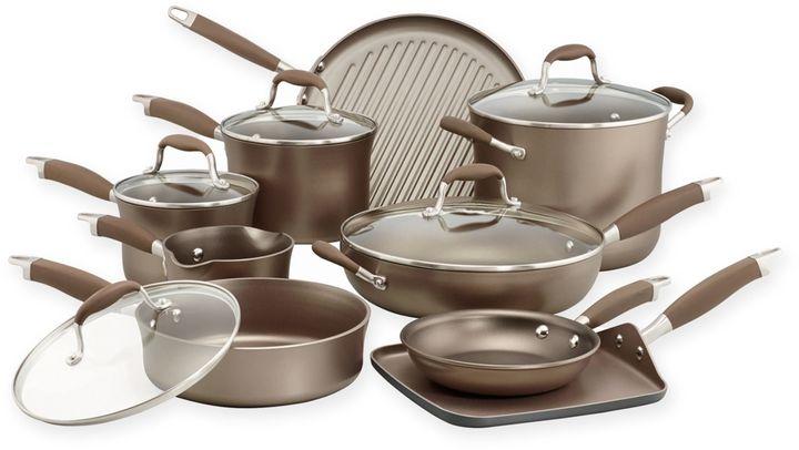 AnolonAnolon® Advanced Umber 14-Piece Cookware Set