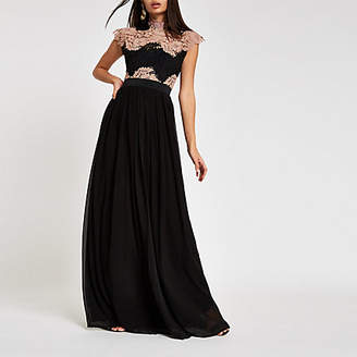 River Island Forever Unique black lace maxi dress