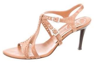 Roger Vivier Suede Ankle Strap Sandals