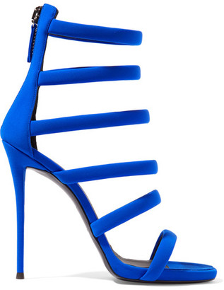 Giuseppe Zanotti - Crepe Sandals - Cobalt blue $895 thestylecure.com