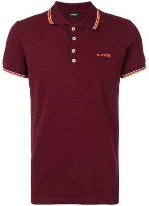 Diesel embroidered logo polo shirt