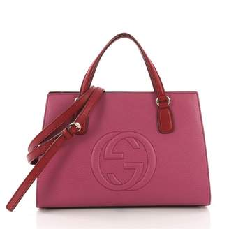 0de00cf03 Pre-Owned at Vestiaire Collective · Gucci Soho Purple Leather Handbag