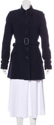 Burberry Belted Gabardine Coat