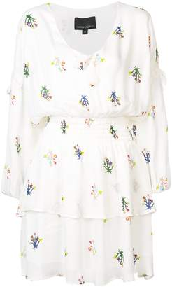 Cynthia Rowley (シンシア ローリー) - Cynthia Rowley Celia tie sleeve smocked mini dress