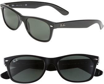 Women's Ray-Ban Small New Wayfarer 52Mm Sunglasses - Black