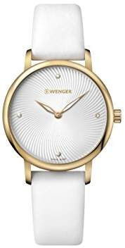 Wenger Women's 'Classic' Swiss Quartz Gold-Tone and Satin Casual Watch