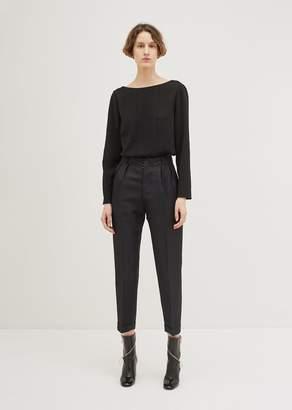 Maison Margiela Linen Silk Herringbone Trouser Black