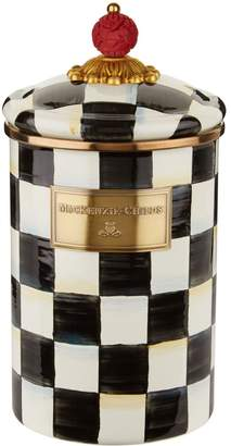 Mackenzie Childs Large Courtly Check Enamel Canister