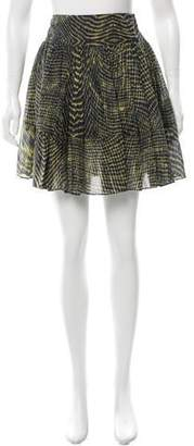 Yigal Azrouel Cut25 by Printed Mini Skirt w/ Tags