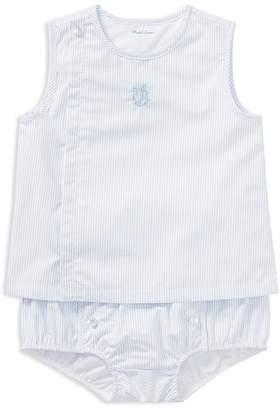 Ralph Lauren Boys' Striped Poplin Shirt & Bloomers Set - Baby