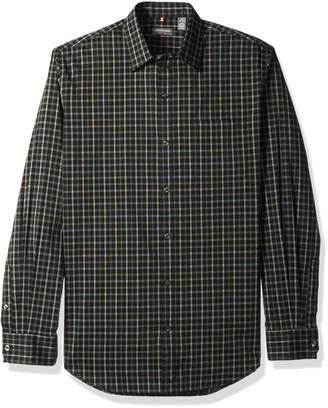 Van Heusen Men's Traveler Stretch Non Iron Long Sleeve Shirt, Black
