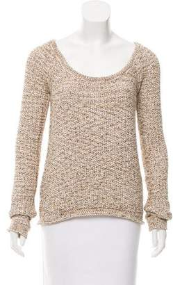 Torn By Ronny Kobo Long Sleeve Scoop Neck Sweater