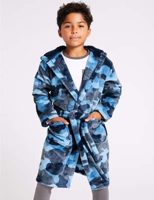 Marks and Spencer Camouflage Hooded Dressing Gown (1-16 Years)