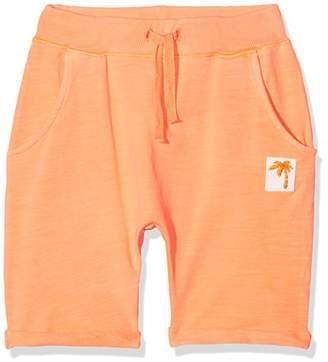 Name It Baby Boys' Nmmdeston SWE Long Shorts Unb (Shocking Orange)