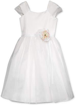 Us Angels Lavender by Floral Applique Dress, Toddler Girls