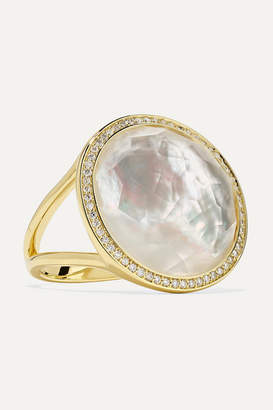 Ippolita Lollipop 18-karat Gold, Mother-of-pearl And Diamond Ring