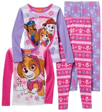 AME Sleepwear Toddler Girl Paw Patrol Chase, Marshall & Skye 4-pc. Pajama Set