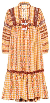 Dodo Bar Or Embroidered printed cotton dress