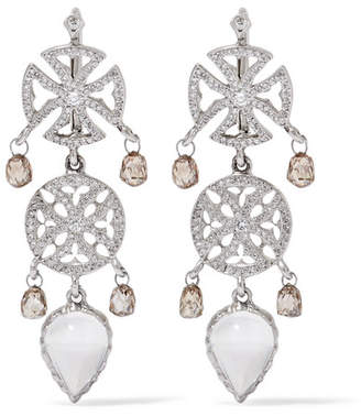 Loree Rodkin 18-karat White Gold Multi-stone Earrings