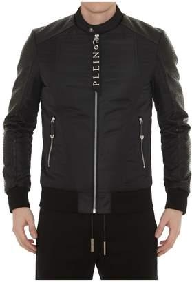 Philipp Plein Disposition Leather Moto Jacket