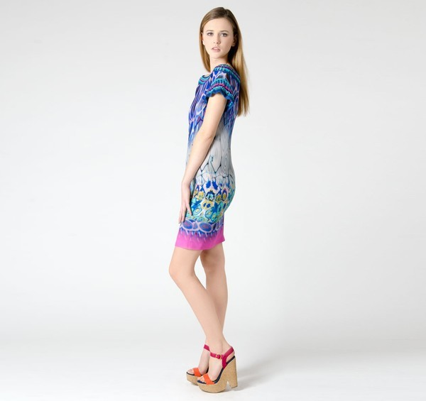 Alberta Ferretti Murano Glass Print Dress