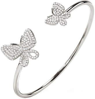 Folli Follie Wonderfly rhodium-plated sterling silver bangle