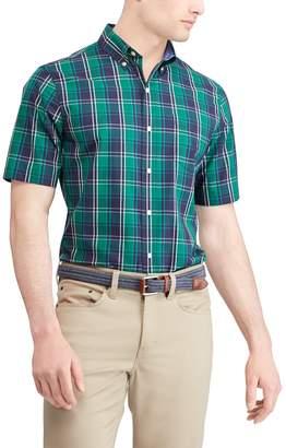 Chaps Men's Regular-Fit Plaid Button-Down Shirt