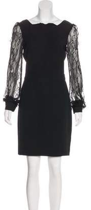 Rachel Zoe Lace-Accented Mini Dress