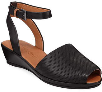 Gentle Souls Lily Leather Demi-Wedge Sandals