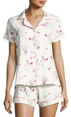 Bedhead Short-Sleeve Print Shortie Pajama Set, Fifi $125 thestylecure.com