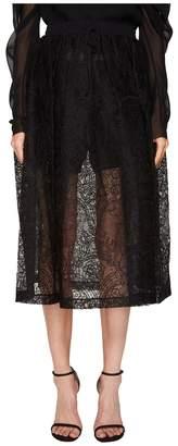 Vera Wang Mid Calf Skirt with Draw Cord Waistband Women's Skirt