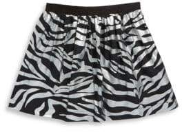 Kenzo Toddler's, Little Girl's& Girl's Zebra Cotton Skirt