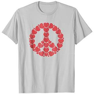 DAY Birger et Mikkelsen Red Hearts Peace Sign Valentine's Love T-Shirt