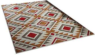 Camilla And Marc The Rug Shop UK Portland 138 Q Rug Shop UK 120 x 170 cm, Polypropylene, Cream/Red/Terracotta, 170 x 120 x 170 cm