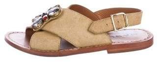 Marni Ponyhair Embellished Sandals